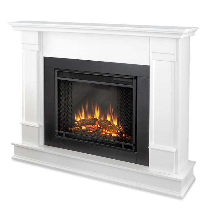 Real Flame 48 In W White Fan Forced Electric Fireplace In The Electric Fireplaces Department At Lowes Com
