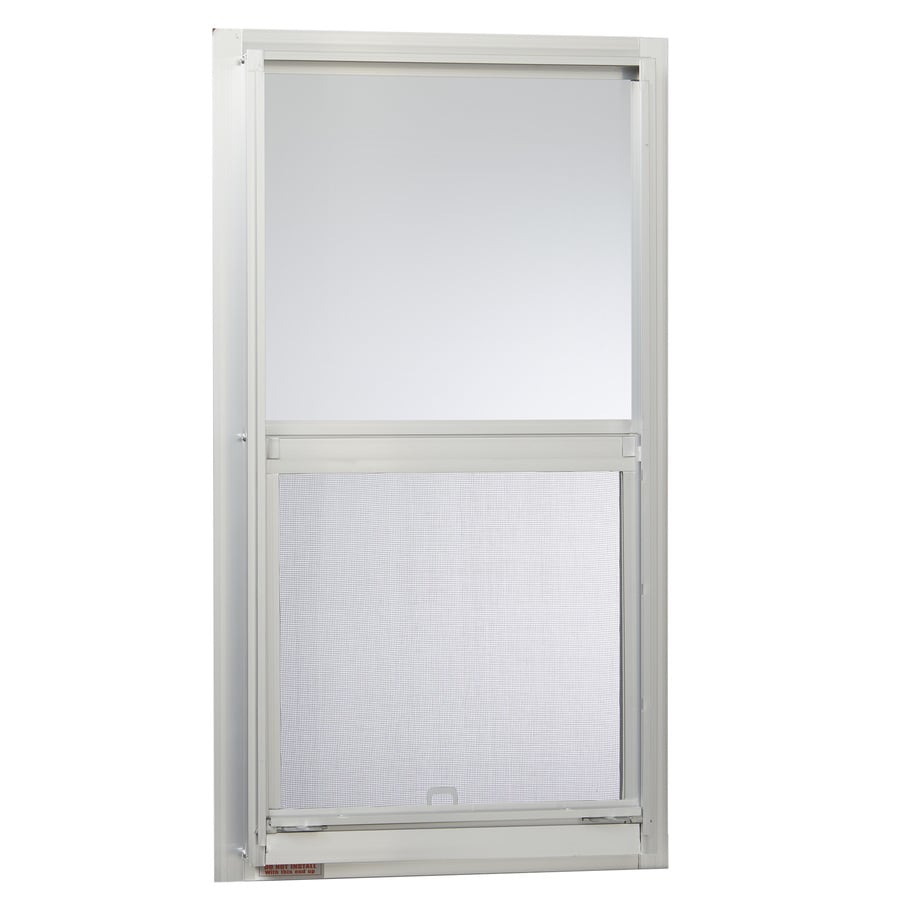 Single Hung Window Glass Repair : Shop project source series aluminum single pane