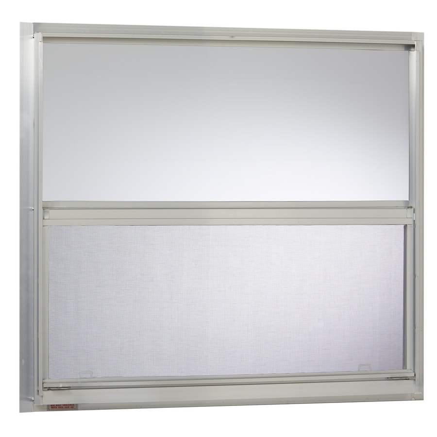 Project Source 40000 Series Aluminum Single Pane Single Strength Replacement Mobile Home Single Hung Window (Rough Opening: 30.25-in x 27.25-in; Actual: 30-in x 27-in)
