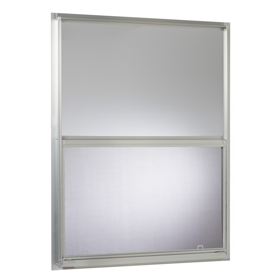 Project Source 40000 Series Aluminum Single Pane Single Strength Replacement Single Hung Window (Rough Opening: 30.25-in x 40.25-in; Actual: 30-in x 40-in)
