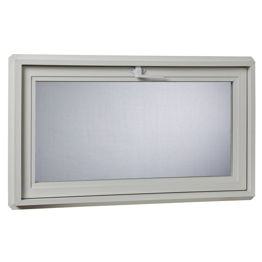 Project Source 30001 Series Tilting Vinyl Double Pane Double Strength Replacement Basement Hopper Window (Rough Opening: 32.25-in x 14.25-in Actual: 31.75-in x 13.75-in)