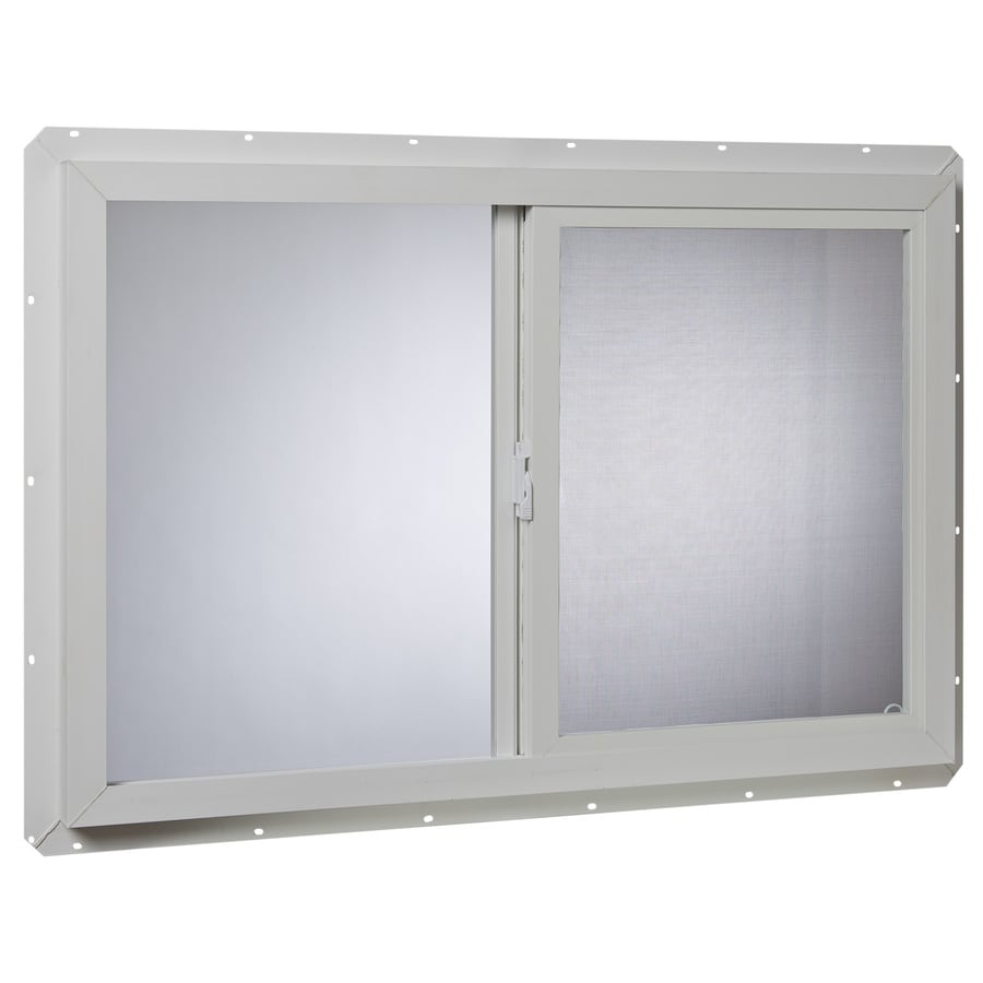 Project Source 10001 Series Left-Operable Vinyl Single Pane Single Strength New Construction Sliding Window (Rough Opening: 36-in x 24-in; Actual: 35.5-in x 23.5-in)