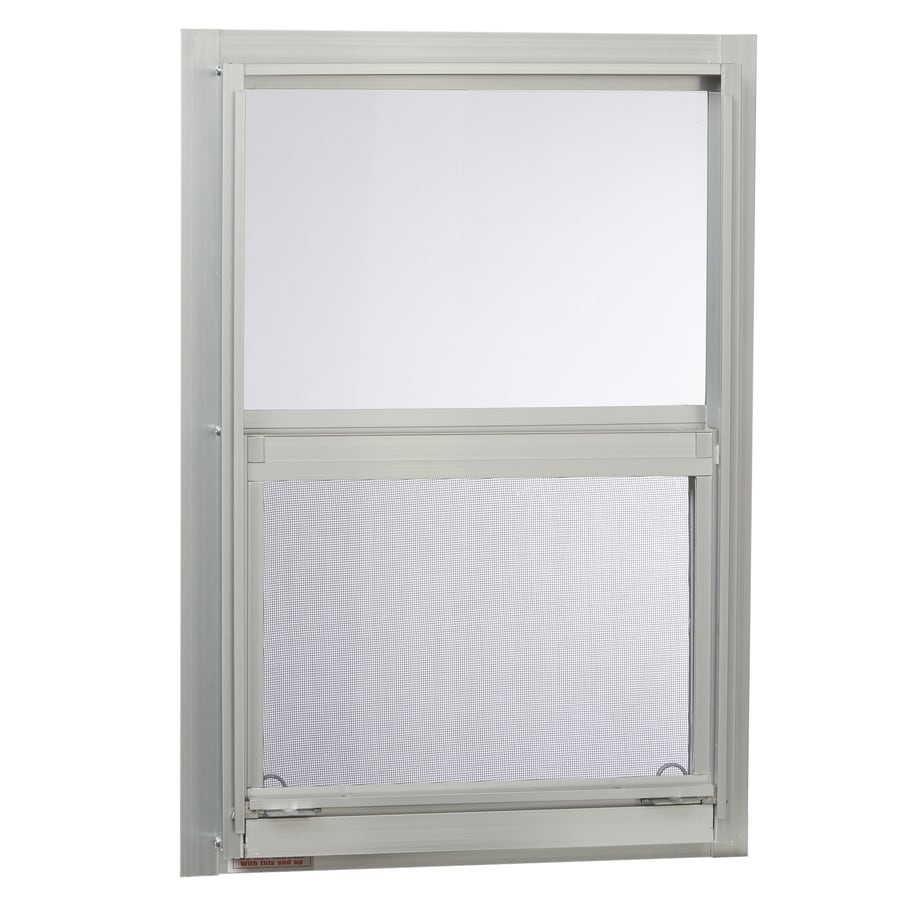 Project Source 40000 Series Aluminum Single Pane Single Strength Replacement Single Hung Window (Rough Opening: 14.25-in x 21.25-in; Actual: 14-in x 21-in)