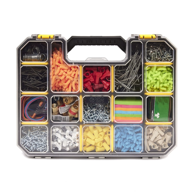 Tafco 17 Compartment Pro Go Divided Small Parts Organizer Yellow In The Small Parts Organizers Department At Lowes Com