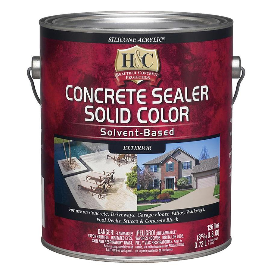 H Amp C Gull Gray Solid Concrete Stain Actual Net Contents