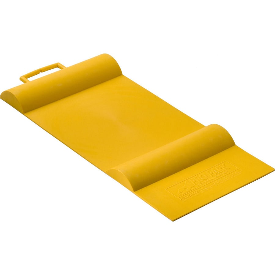 Racor 12-in W x 1.5-in L x 27-in H Yellow Rubber Car Parking Mat