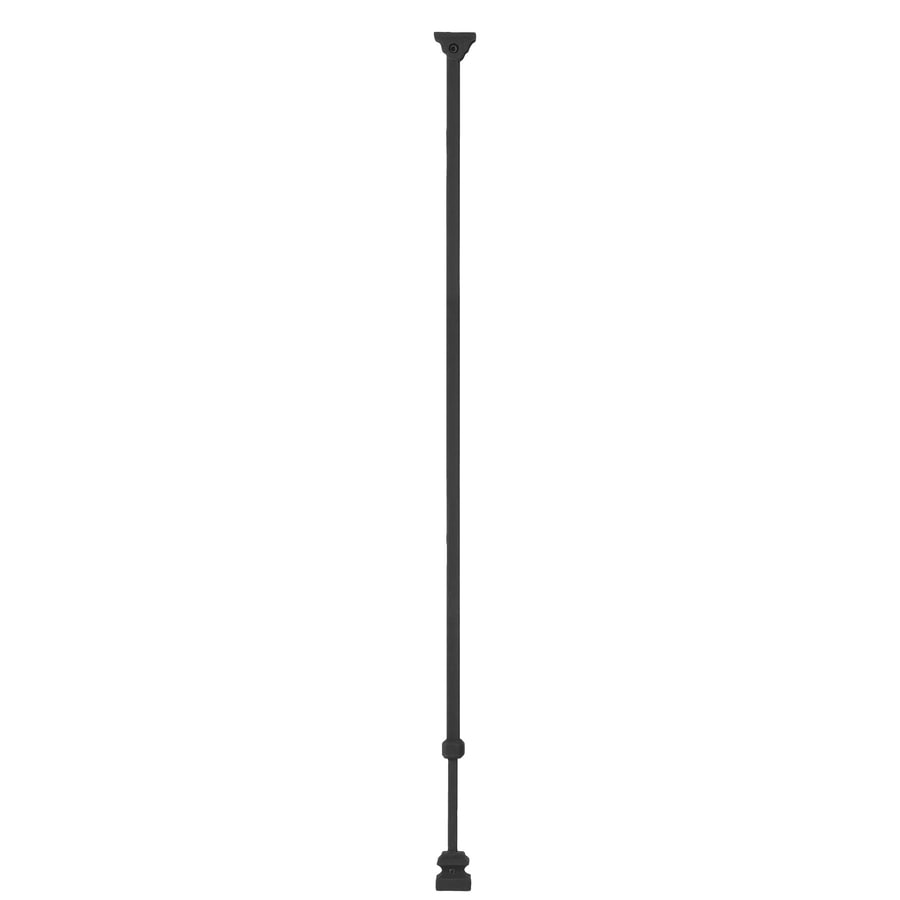 Ole' Iron Slides Adjustable 32.5-in Satin Black Powder Coat Wrought Iron Plain Stair Baluster