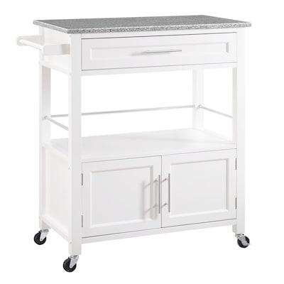 White Farmhouse Kitchen Cart