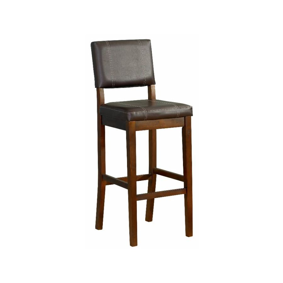 Linon Milano Dark Walnut 30-in Bar Stool