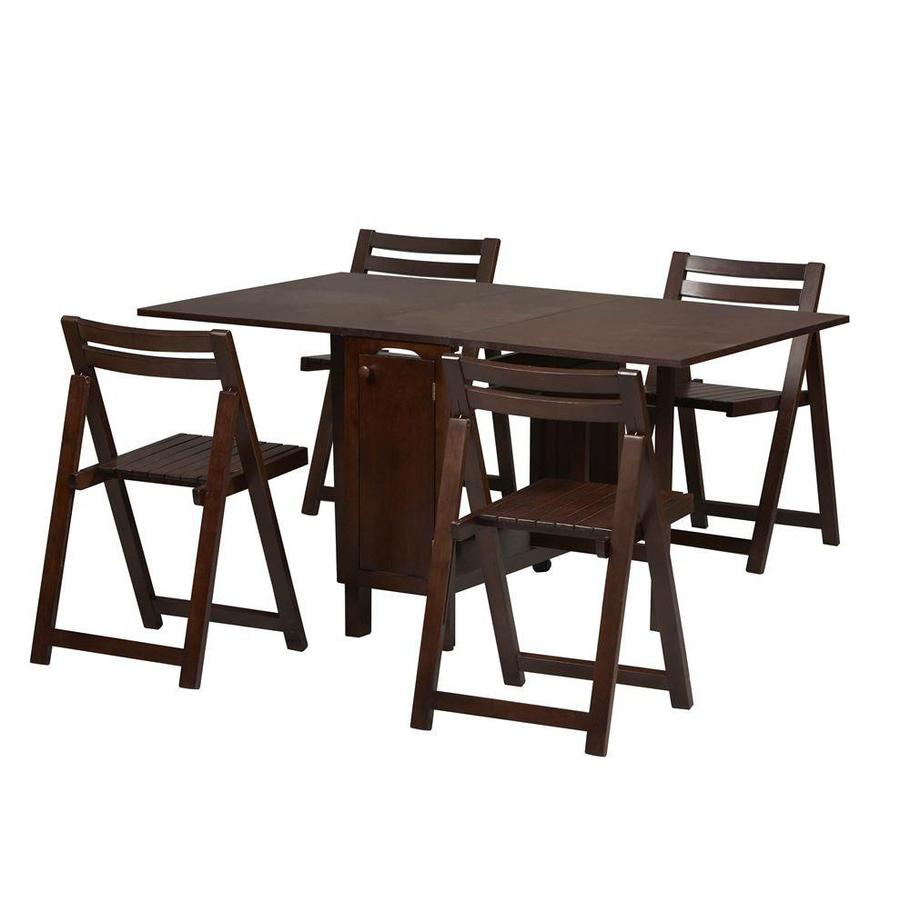 Marvelous Linon Space Saver Wenge 5 Piece Dining Set
