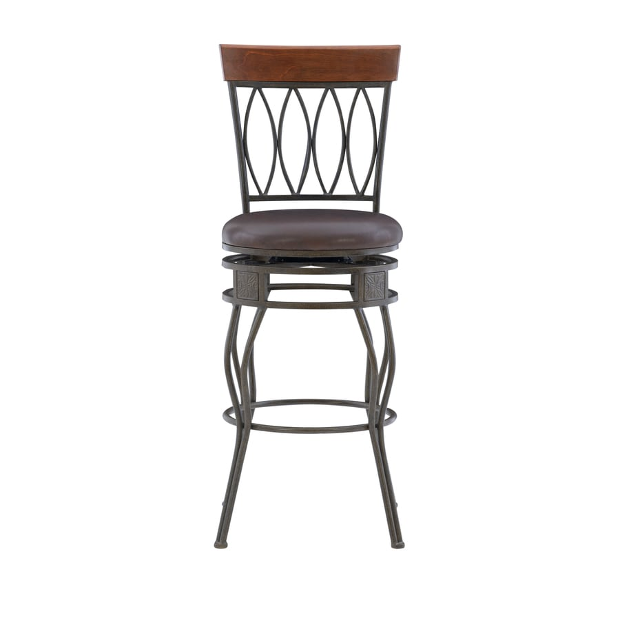 Linon Matt Bronze 30-in Bar Stool