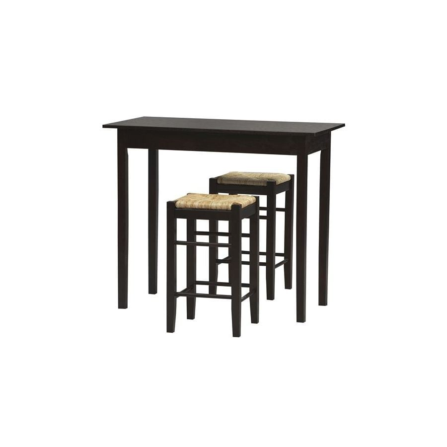 Linon Tavern Espresso 3-Piece Dining Set