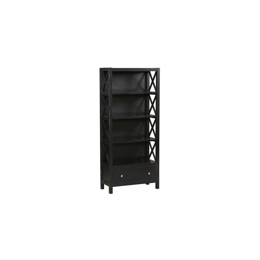 "Linon Anna Black 72-1/4"" 4-Shelf Bookcase"