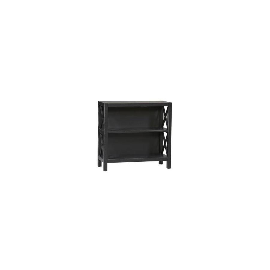 """Linon Anna Black 33-3/4"""" 3-Shelf Bookcase"""