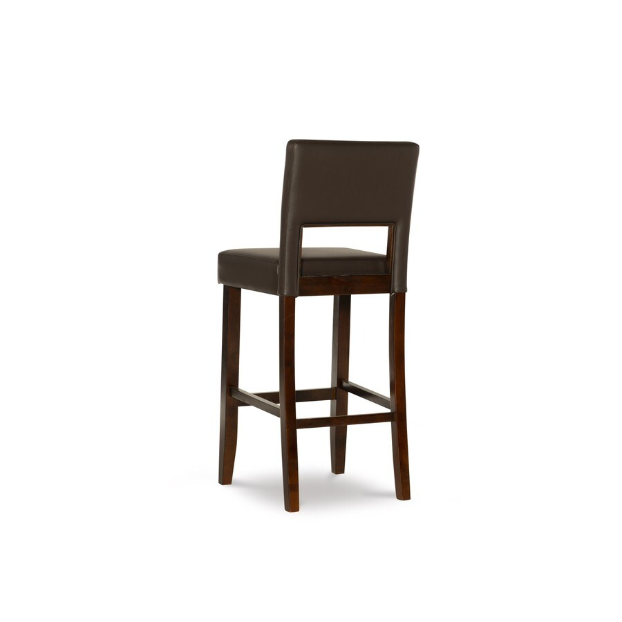 Linon Vega Espresso 30-in Bar Stool
