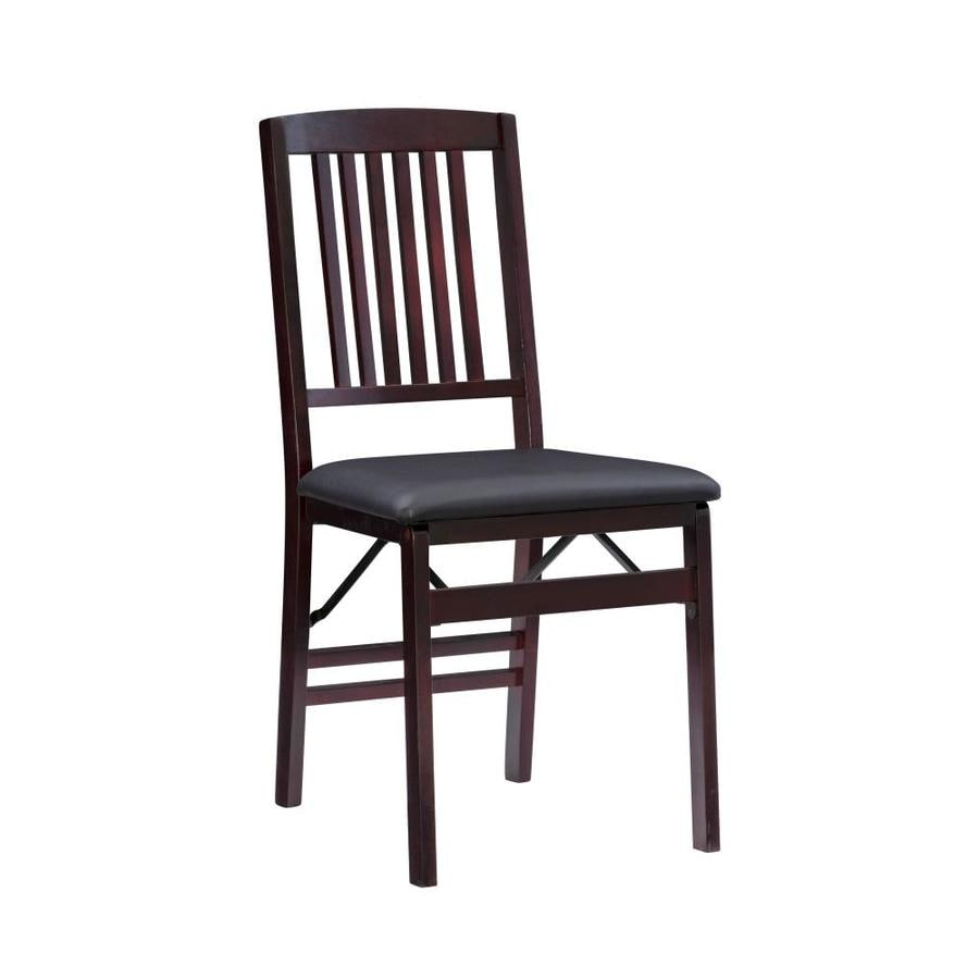 Linon Triena Mission Back Folding Chair At Lowes Com
