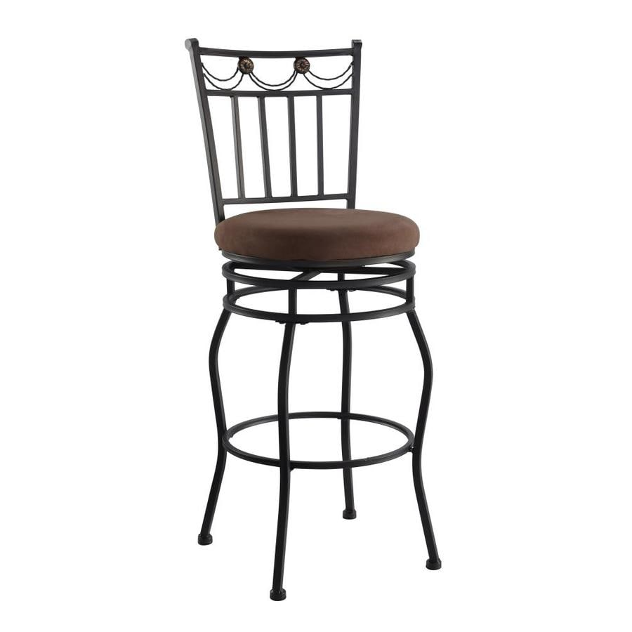 Linon Swag Brown 30-in Bar Stool