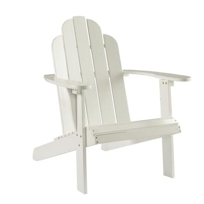 Miraculous Linon White Adirondack Chair Casual White Accent Chair At Gamerscity Chair Design For Home Gamerscityorg