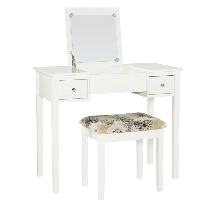 Linon White Makeup Vanity At Lowescom