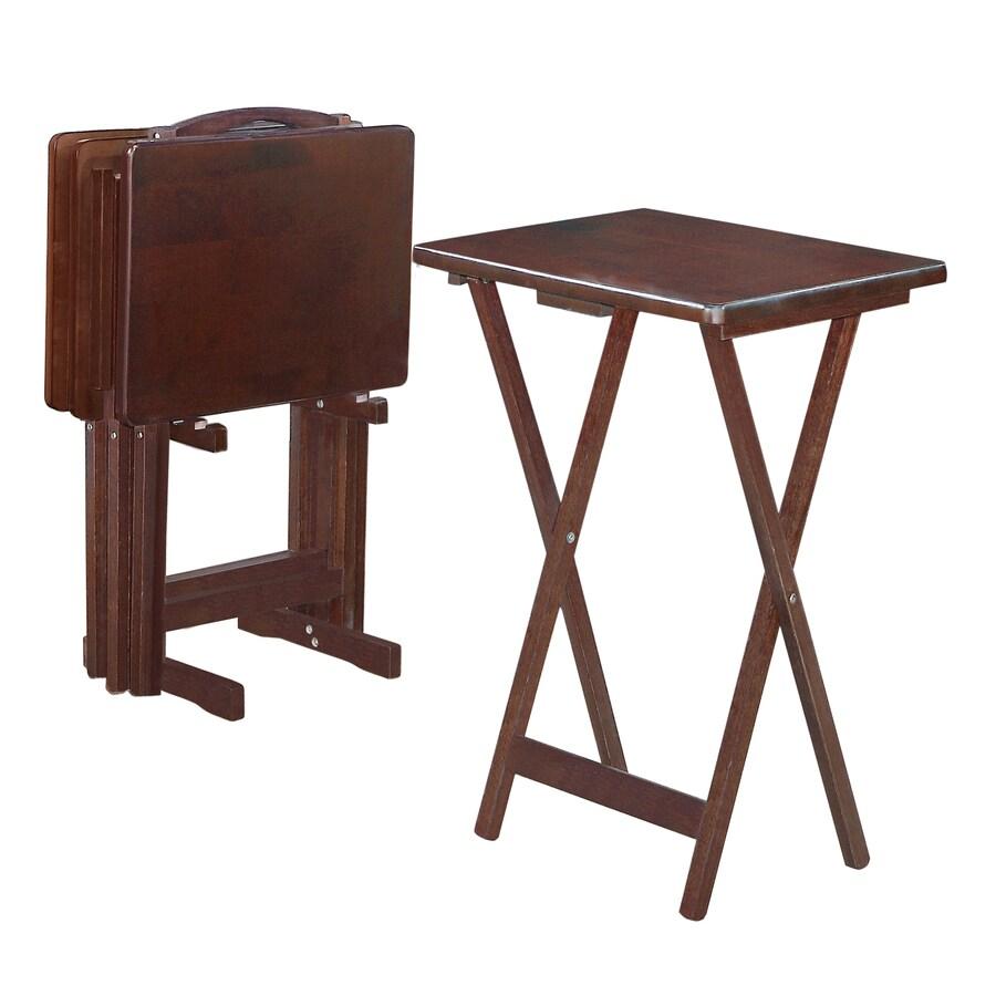 Shop Linon 19 In X 14 In Rectangle Wood Espresso Tv Tray
