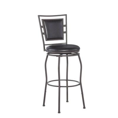 Peachy Linon Townsend Dark Brown Powder Coating Bar Stool At Lowes Com Ncnpc Chair Design For Home Ncnpcorg