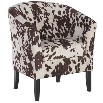 Astounding Linon Simon Udder Madness Casual Cow Print Vinyl Club Chair Dailytribune Chair Design For Home Dailytribuneorg