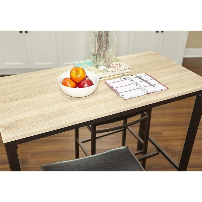 Linon Betty Rustic Blonde Brown Dining Set With Table In The Dining Room Sets Department At