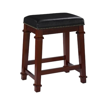 Brilliant Linon Kennedy Backless Pu Counter Stool Black Counter Stool Ocoug Best Dining Table And Chair Ideas Images Ocougorg
