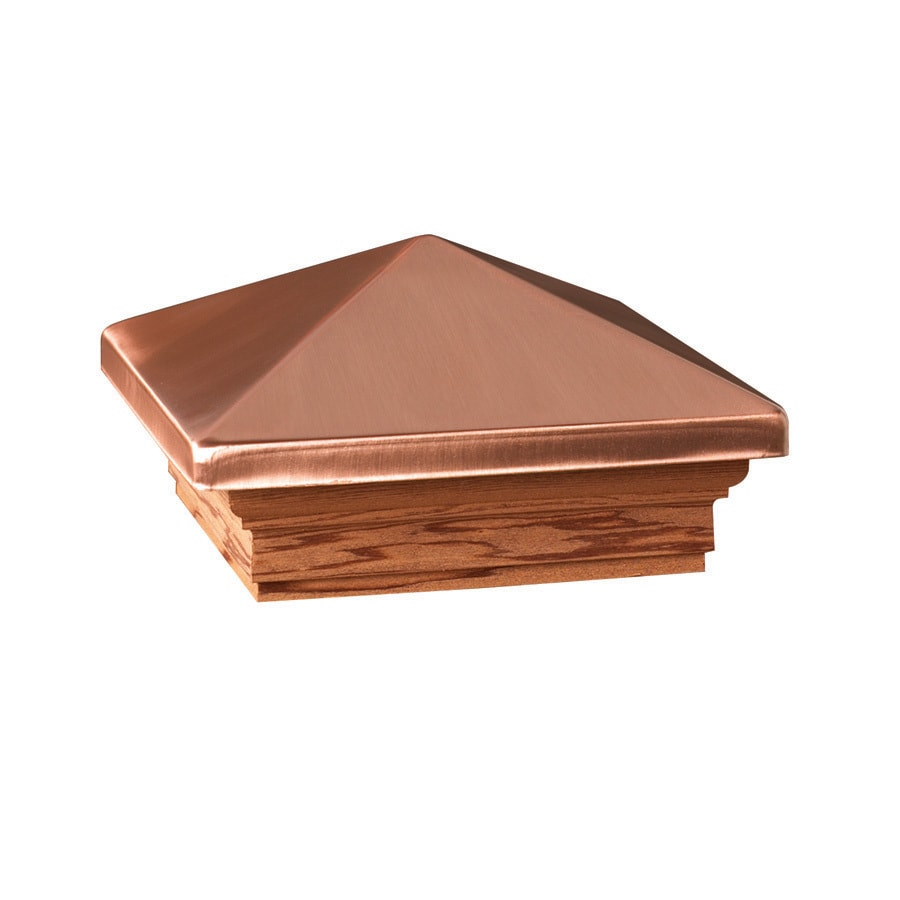 Deckorators (Fits Common Post Measurement: 4-in X 4-in; Actual: 5.63-in x 5.63-in x 3.1-in) Copper Metal Cedar Deck Post Cap