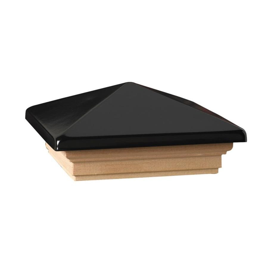 Deckorators (Fits Common Post Measurement: 6-in x 6-in; Actual: 8-in x 8-in x 3.25-in) Black Metal Cedar Deck Post Cap