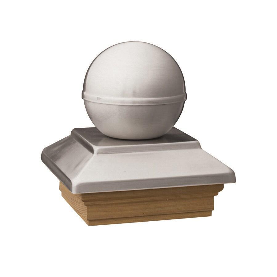 Deckorators (Fits Common Post Measurement: 4-in x 4-in; Actual: 5.63-in x 5.63-in x 3.1-in) Stainless Metal Cedar Deck Post Cap