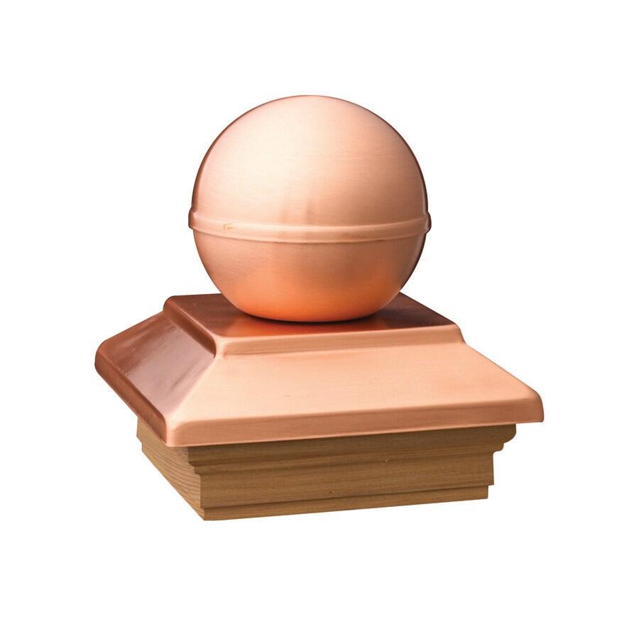 Deckorators (Fits Common Post Measurement: 4-in x 4-in; Actual: 5.54-in x 5.54-in x 5.77-in) Copper Metal Pine Deck Post Cap