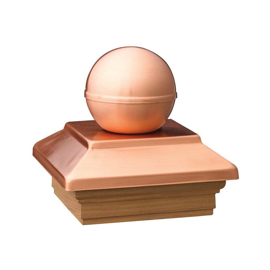 Maine Ornamental Copper Metal Pine Deck Post Cap (Fits Common Post Measurement: 6-in x 6-in; Actual: 5.54-in x 5.54-in x 5.77-in)
