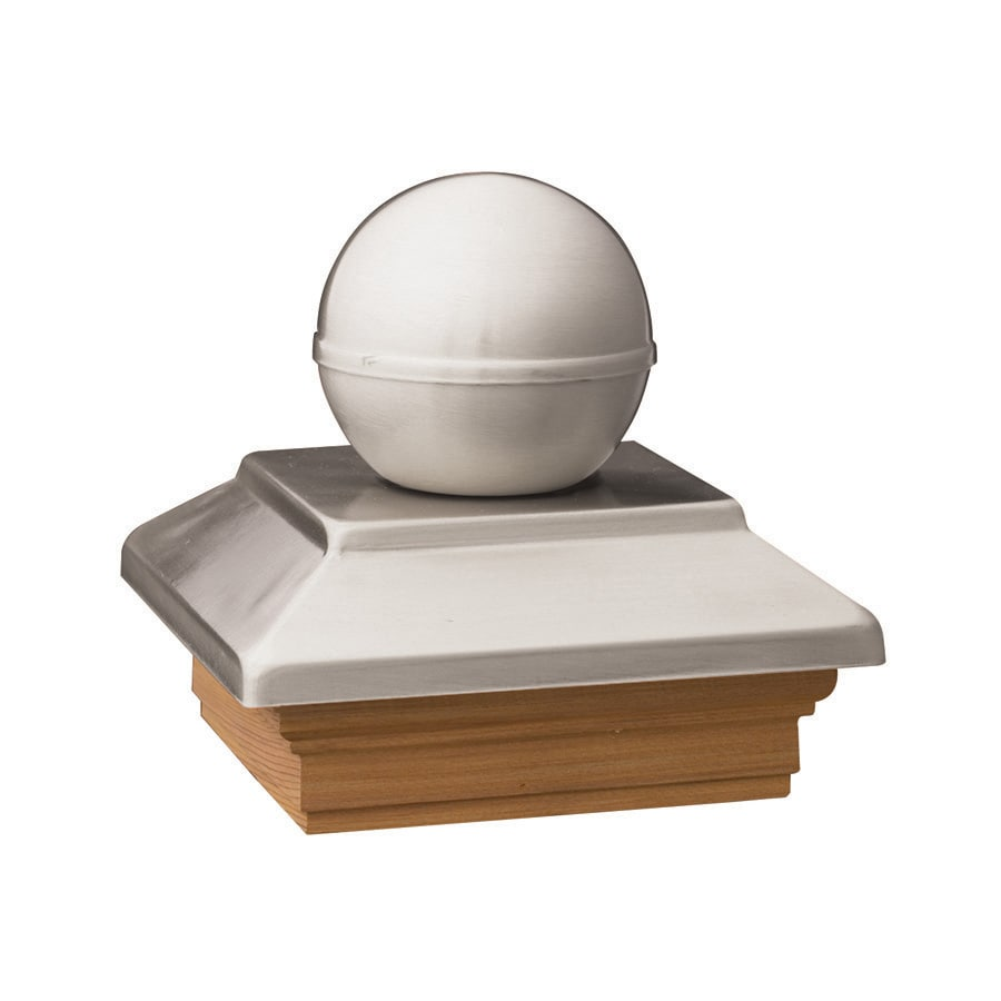 Deckorators (Fits Common Post Measurement: 6-in x 6-in; Actual: 8-in x 8-in x 3.25-in) Stainless Metal Pine Deck Post Cap