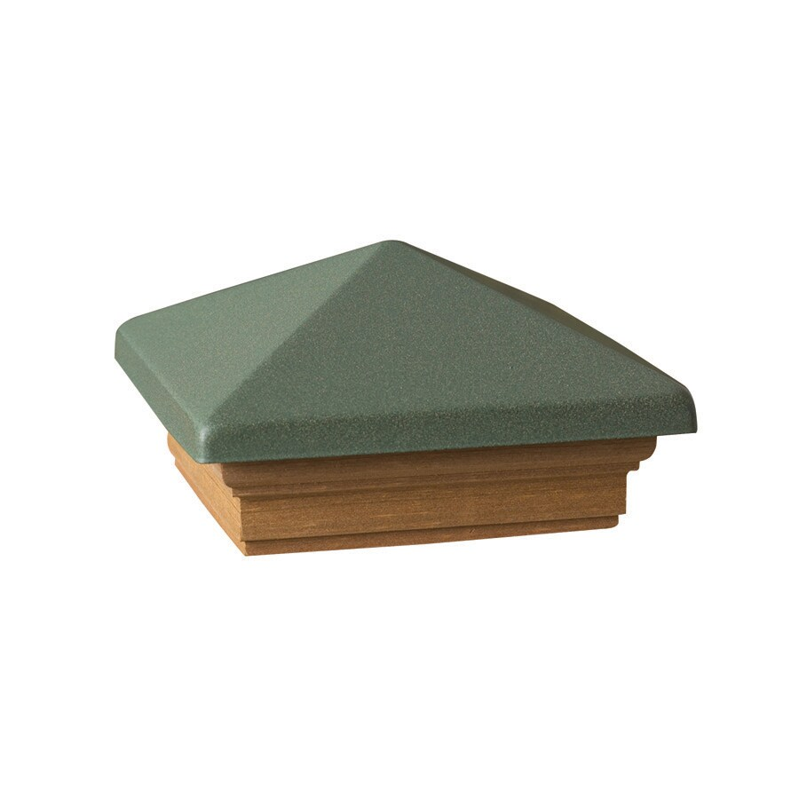 Maine Ornamental 4-in x 4-in Victoria Green High Point Cedar Post Cap