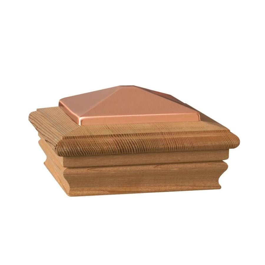 Maine Ornamental 6-in x 6-in Newport Copper High Top Cedar Post Cap