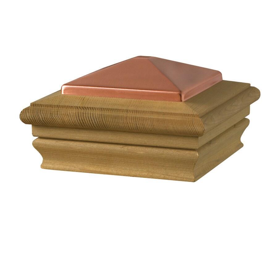 Deckorators (Fits Common Post Measurement: 4-in x 4-in; Actual: 5.32-in x 5.28-in x 3.28-in) Brown Wood Pine Deck Post Cap