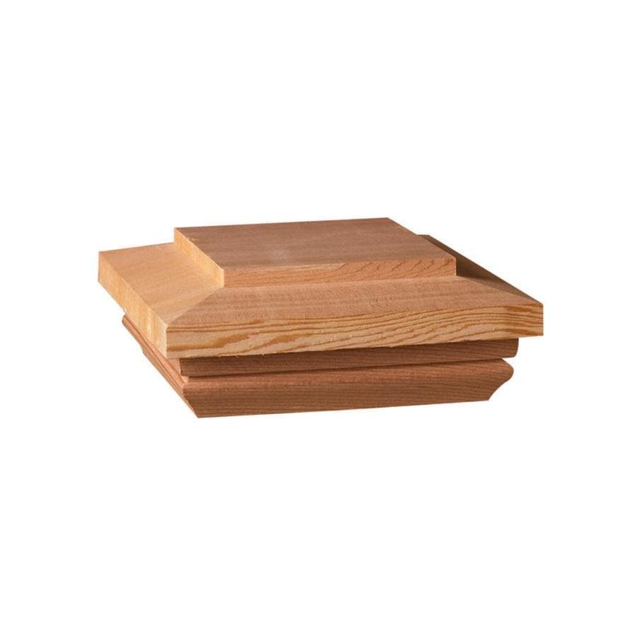 Deckorators (Fits Common Post Measurement: 4-in x 4-in; Actual: 3.96-in x 4-in x 0.97-in) Brown Wood Redwood Deck Post Cap