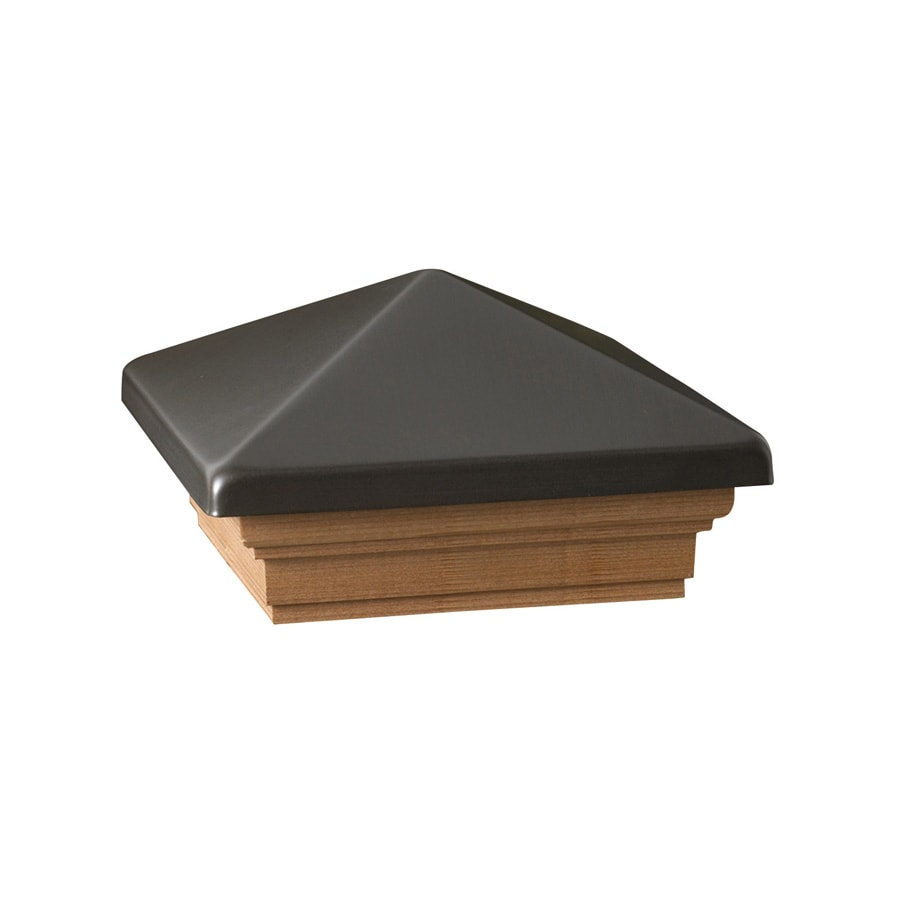 Deckorators (Fits Common Post Measurement: 4-in x 4-in; Actual: 5.63-in x 5.63-in x 3.1-in) Pewter Metal Pine Deck Post Cap