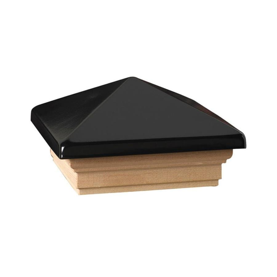 Deckorators (Fits Common Post Measurement: 4-in x 4-in; Actual: 5.63-in x 5.63-in x 3.1-in) Black Metal Pine Deck Post Cap