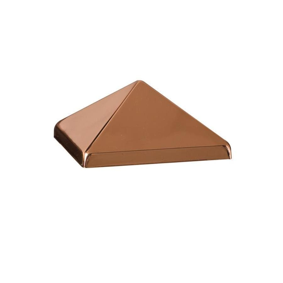 Deckorators (Fits Common Post Measurement: 4-in x 4-in; Actual: 1.75-in x 3.75-in x 3.75-in) Copper Stainless Steel Deck Post Cap