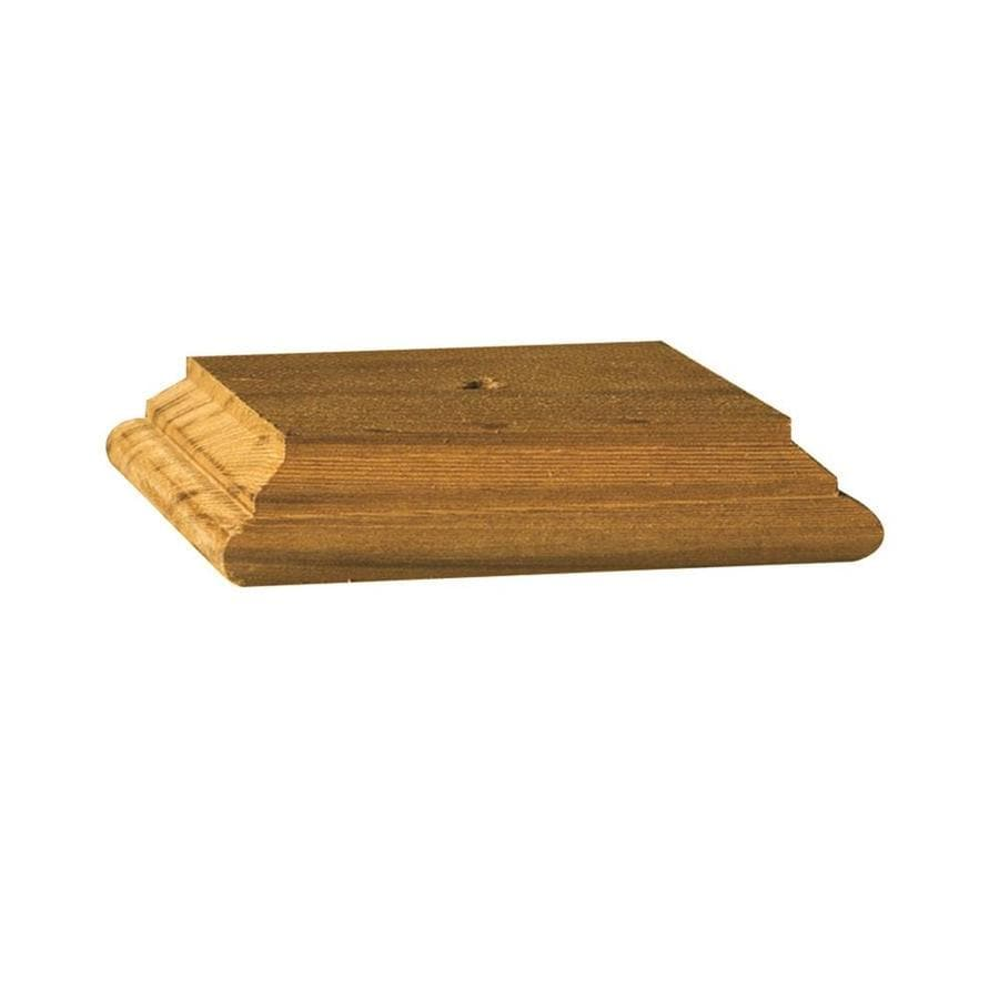 Deckorators (Fits Common Post Measurement: 6-in x 6-in; Actual: 6.05-in x 6.05-in x 1.01-in) Cedar Wood Cedar Deck Post Cap