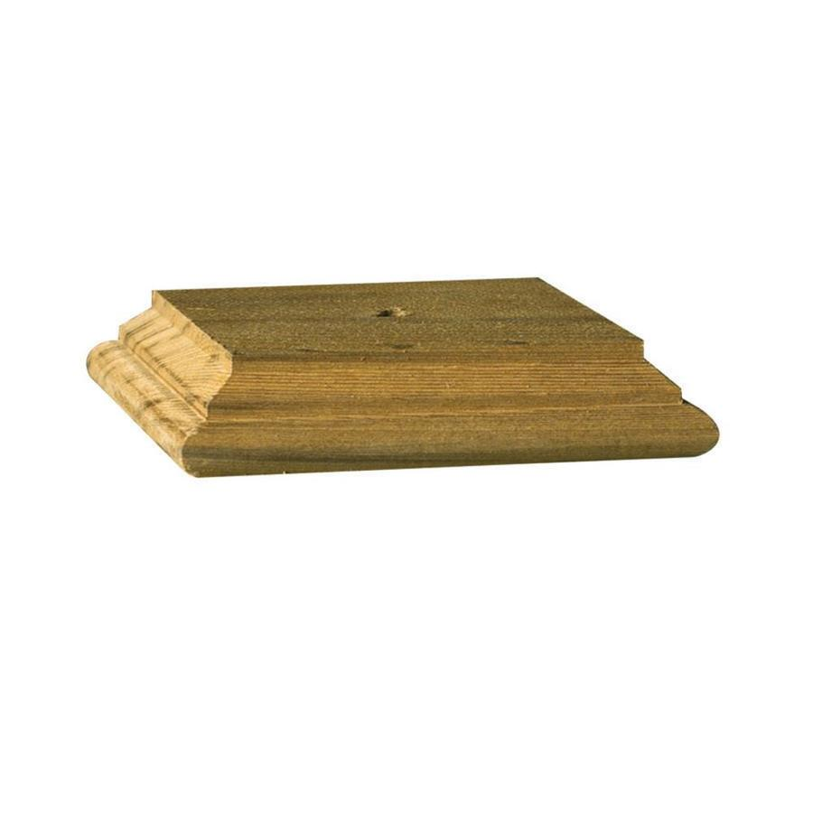 Deckorators (Fits Common Post Measurement: 4-in x 4-in; Actual: 3.96-in x 4-in x 0.97-in) Natural Pine Wood Pine Deck Post Cap