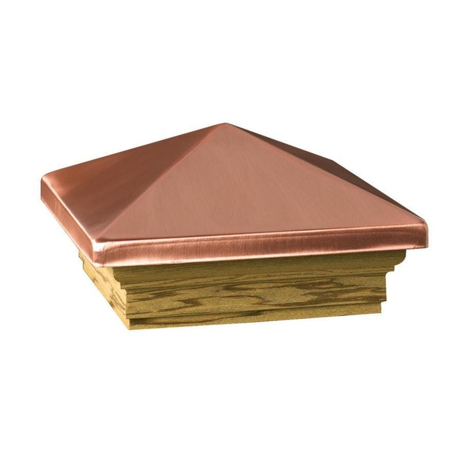 Deckorators (Fits Common Post Measurement: 6-in x 6-in; Actual: 8-in x 8-in x 3.25-in) High Point Copper Metal Pine Deck Post Cap