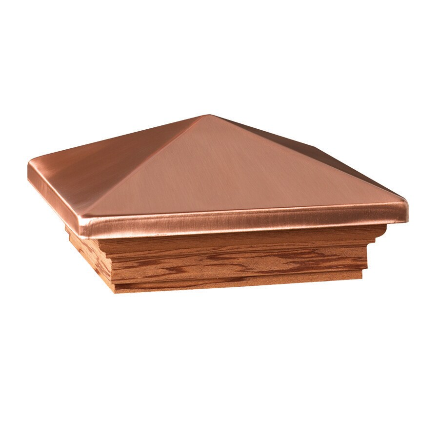 Deckorators (Fits Common Post Measurement: 6-in x 6-in; Actual: 8-in x 8-in x 3.25-in) Copper Metal Redwood Deck Post Cap