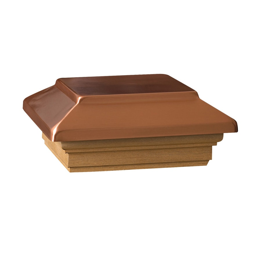 Maine Ornamental 6-in x 6-in Copper Post Cap