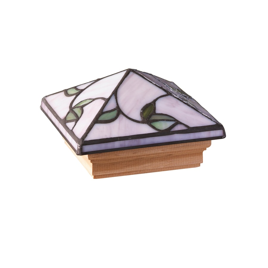 Maine Ornamental Stained Glass Deck Post Cap