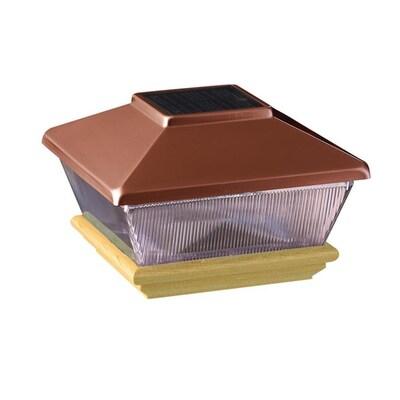 6x6 Copper/Cedar Solar Post Light at Lowes com