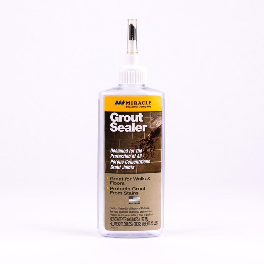 Shop Miracle Sealants Company Fl Oz Indoor Floor Sealer Grout - Commercial grout sealer