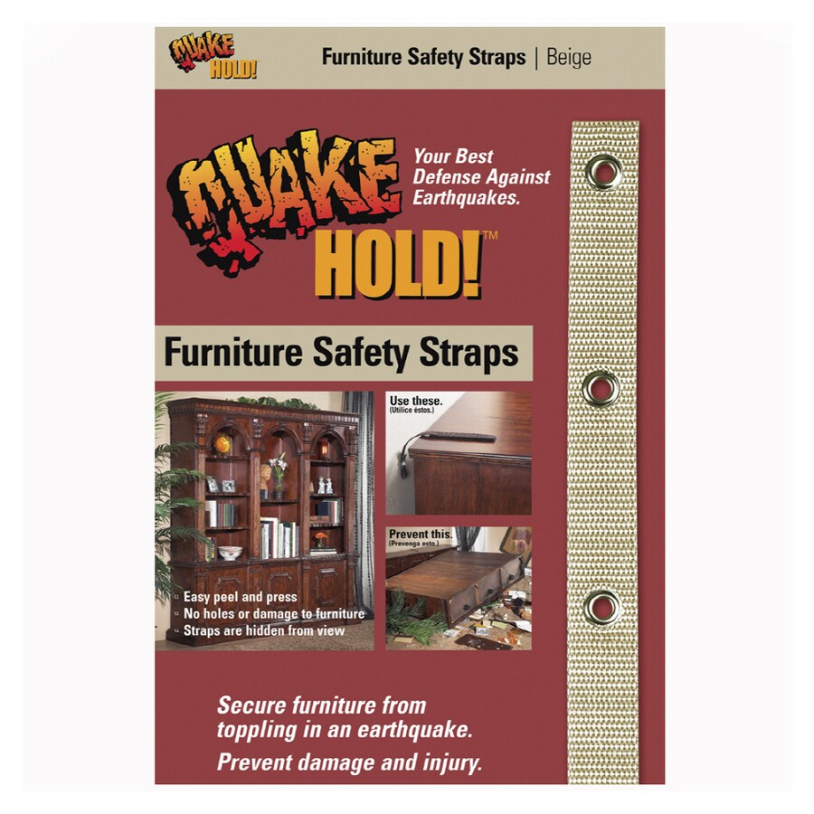 QuakeHOLD! Beige Furniture Safety Strap